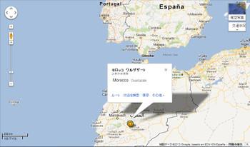 Morocco_ouarzazate_map